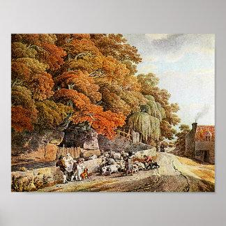 Impressão das belas artes da pintura da aguarela