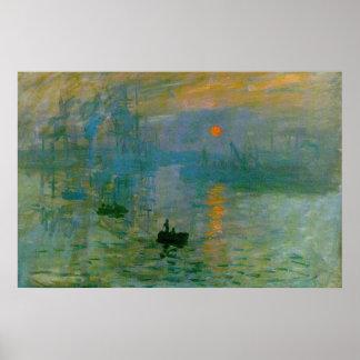 Impressão das belas artes do nascer do sol de Mone