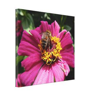 Impressão das canvas - abelha ocupada