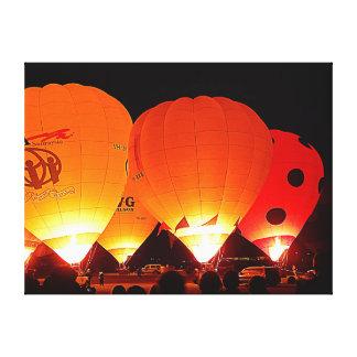 Impressão das canvas - balões da noite