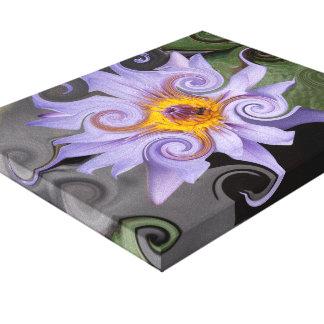 Impressão das canvas da impressão de Waterlily Impressão De Canvas Envolvidas