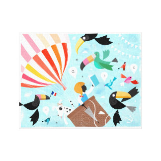 Impressão das canvas da menina do balão!
