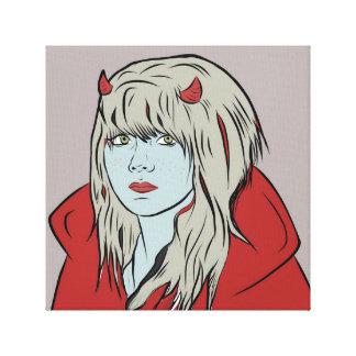 Impressão das canvas da menina do diabo