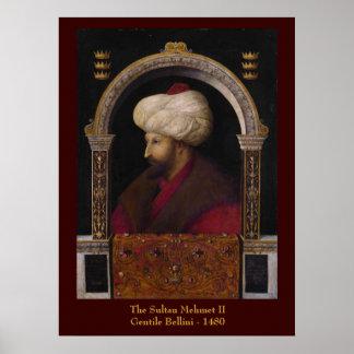 Impressão das canvas de Mehmet II da sultão