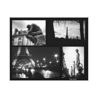 Impressão das canvas de Paris