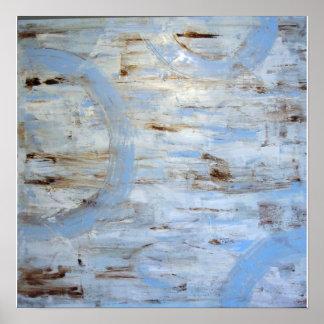 Impressão das canvas do círculo dos azul-céu