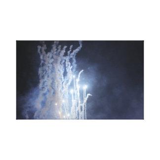 Impressão das canvas dos fogos-de-artifício