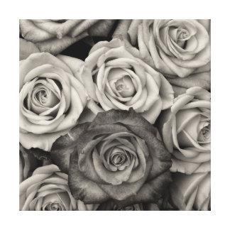 Impressão das canvas dos rosas pretos & brancos impressão em tela