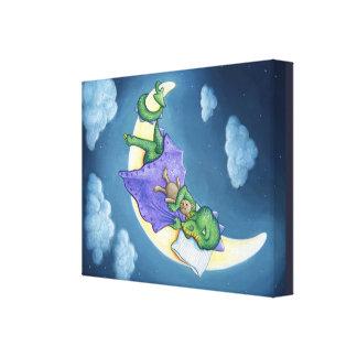 Impressão das canvas dos sonhos do dragão do bebê