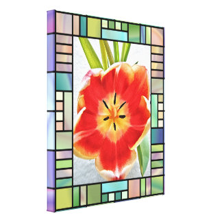 Impressão das canvas - tulipa de florescência