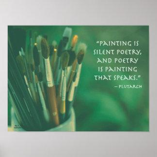 Impressão das citações de Plutarch da pintura & da