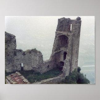 Impressão das ruínas do castelo