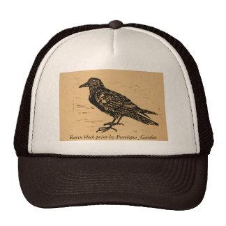 Impressão de bloco do corvo por Penelopes_Garden Boné