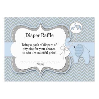 Impressão de Chevron do Raffle do bebê do elefante Cartão De Visita Grande