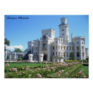Impressão de Hluboka do castelo