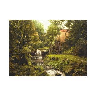 Impressão de Inglaterra do vintage, Rigby Watermil Impressão Em Tela