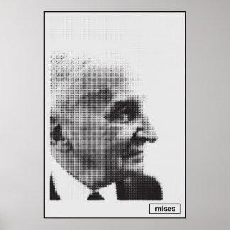 Impressão de intervalo mínimo de Ludwig von Mises
