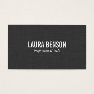 Impressão de linho escuro cartão de visitas