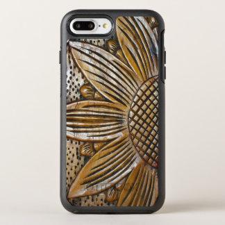 Impressão de madeira da foto da escultura do capa para iPhone 7 plus OtterBox symmetry