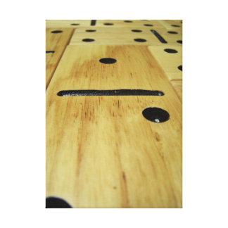 Impressão de madeira do dominó em canvas esticadas