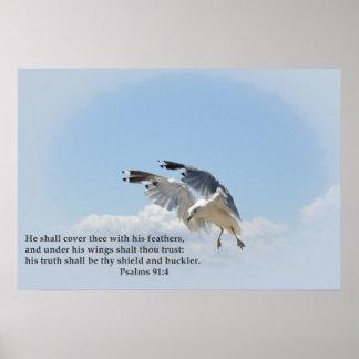 Impressão decorativo da gaivota inspirada