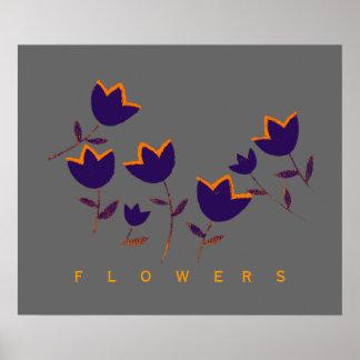 impressão decorativo das flores da tulipa