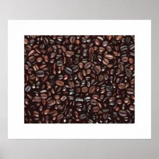 Impressão decorativo do café
