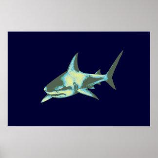 impressão decorativo do tubarão