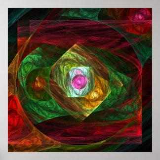 Impressão dinâmico da arte abstracta das conexões