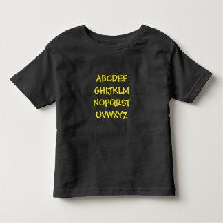 Impressão do alfabeto da criança tshirt