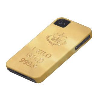 Impressão do bar do lingote de ouro capas para iPhone 4 Case-Mate