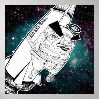 Impressão do bebê de Rocket
