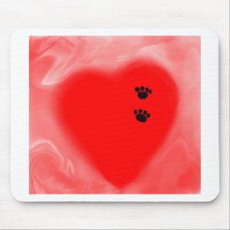 Impressão do cão em meu coração mousepad