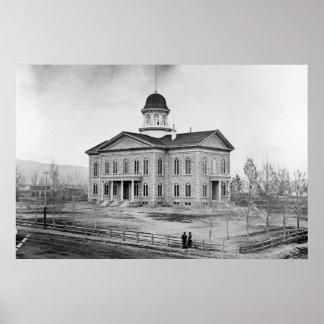 Impressão do Capitólio 36x24 do estado de Nevada