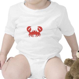 Impressão do caranguejo tshirt