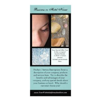 Impressão do cartão da cremalheira, termas ou mode 10.16 x 22.86cm panfleto