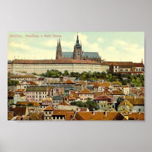 Impressão do castelo de Praga