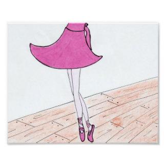 Impressão do cetim do dançarino de balé. 8 x 10. impressão de foto