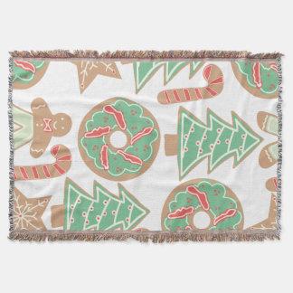 Impressão do cozimento do Natal Throw Blanket