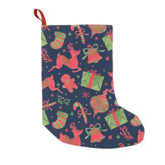 Impressão do feriado de dezembro bota de natal pequena