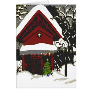 Impressão do japonês do Feliz Natal Cartão Comemorativo