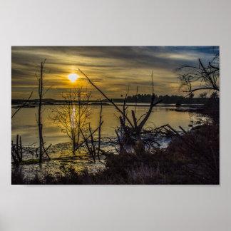 Impressão do por do sol dos pantanais de Bolsa