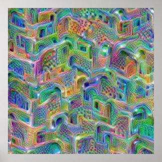 Impressão do poster da arte abstracta das
