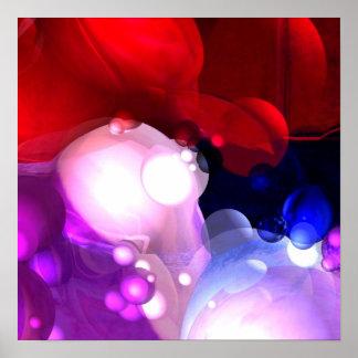 Impressão do poster da arte abstracta de Digitas