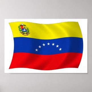 Impressão do poster da bandeira de Venezuela