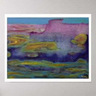 Impressão do poster da paisagem