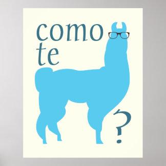 Impressão do poster das citações do lama Lamas do