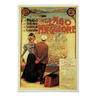 Impressão do poster das viagens vintage de Maggior