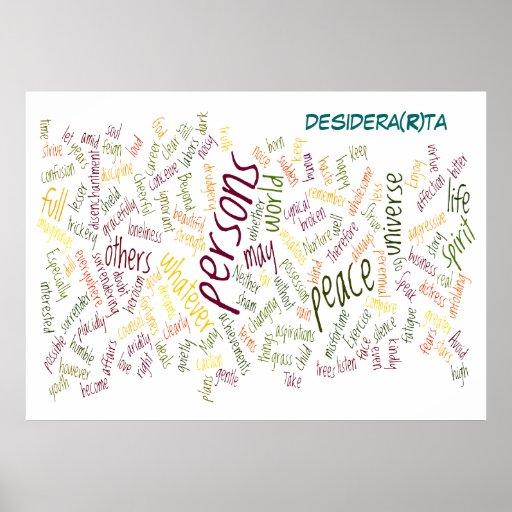 Impressão do poster de Desidera (R) Ta
