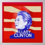 Impressão do POSTER de Hillary Clinton